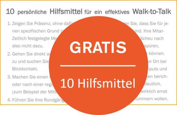 10 Hilfsmittel Walk to Talk Zürich Innovation Coach Hartschen